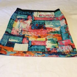 Karen Kane ladies medium watercolor stretch skirt